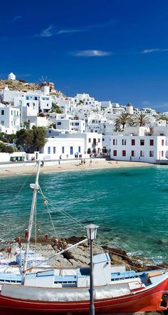 Mykonos Island, Greece | vivid blue, sea green, and white - why I adore the Greek islands!