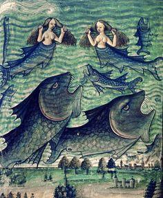 Waterworld, Livre de la Vigne nostre Seigneur, France ca. 1450-1470 (Bodleian Library, MS. Douce 134, fol. 42v)