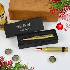 Engraved Bullet Bottle Opener - Christmas Gift