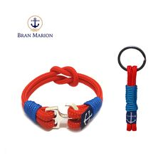 Bran Marion Red and Blue Nautical Bracelet and Keychain sold by Bran Marion. Shop more products from Bran Marion on Storenvy, the home of independent small businesses all over the world. Nautical Bracelet, Nautical Jewelry, Unique Jewelry, Red And Blue Make, Marine Rope, Handmade Bracelets, Jewelry Collection, Accessories, Things To Sell