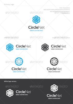 Circle Net  #blue #business #circle • Available here → http://graphicriver.net/item/circle-net/1266677?s_rank=54&ref=pxcr