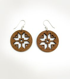 This design - created by Inspired Natives Project collaborator Michele Reyes - was inspired by the traditional designs for a snowflake found in Navajo Rugs. The snowflake reminds us of the blessing of the winter season. Having different seasons brings balance and harmony to life.  In winter, the earth has a chance to rest.