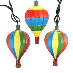 Kurt Adler UL 10-Light Hot Air Balloon Light Set ** Startling review available here  : Garden Christmas Decorations