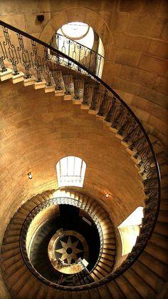 "bluepueblo: ""Spiral Staircase, St. Paul's Cathedral, London, England photo via julia """