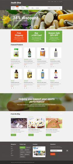 WooCommerce Theme , Health Shop
