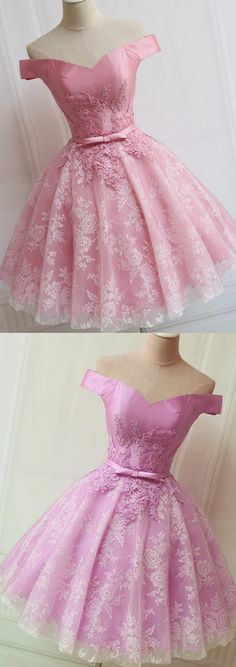 Cheap Homecoming Dresses, Pink Homecoming Dresses, Short Homecoming Dresses, Homecoming Dresses Cheap, Short Homecoming Dresses Cheap, Homecoming Dresses Short, Cheap Dresses Online, Cheap Party Dresses, Short Party Dresses, A-line/Princess Party Dresses, Short Pink Party Dresses With Bandage Mini Off-the-Shoulder Sale Online