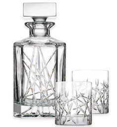Graffiti 3-Piece Decanter Set Vintage Set Glasses Liquor Bar Tool Accessories #topshelf