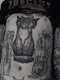 Robert Borbas, Tattoo - eerie cat