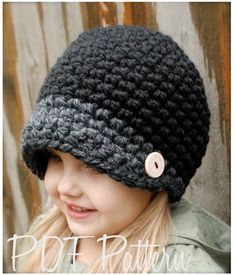 Crochet PATTERN-The Easton Cap (Toddler, Child, and Adult sizes). $5.50, via Etsy.