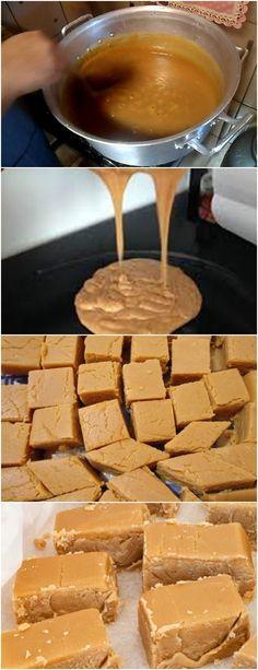 DOCINHO DE LEITE CASEIRO…RECEITINHA DA MAMÃE!! VEJA AQUI>>>Unte uma forma com manteiga Em uma panela grande, misture todos os ingredientes Leve ao fogo baixo, mexendo sempre #receita#bolo#torta#doce#sobremesa#aniversario#pudim#mousse#pave#Cheesecake#chocolate#confeitaria Homemade Sweets, Good Food, Yummy Food, Food Obsession, How Sweet Eats, Food Truck, Food Inspiration, Sweet Recipes, Delicious Desserts