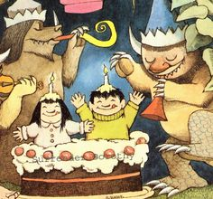Birthday Party By Maurice Sendak via Etsy.