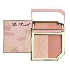 Use them individually or mix them for a gorgeous glow, the Too Faced Fruit Cocktails Strobing Blush Duos will give you an amazing look. Too Faced Sephora Makeup, Skin Makeup, Makeup Cosmetics, Tutti Frutti, Lip Gloss, Too Faced Blush, Too Faced Palette, Purple Pink Color, Peach Palette