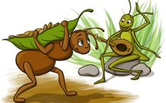 Moral Stories for Kids- English Stories Moral Stories For Kids, Short Stories For Kids, Pictures Of Ants, Art Pictures, Photos, Grasshopper Pictures, Ant Crafts, Insect Photography, The Donkey