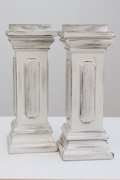 Wood Pillar CANDLE HOLDERS wooden candle STICKS by mikedolinsky, $39.00