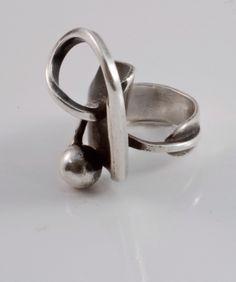 Paul Lobel Sterling Ring, c 1950's