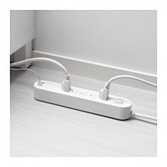 IKEA - KOPPLA, 5 outlet power strip & 2 USB ports, , You can charge your smartphone, computer and other devices all at the same time, since the power strip has 5 individual outlets and 2 USB ports.Helps you save money by making it easy to switch off the power, so no energy is wasted in standby mode.