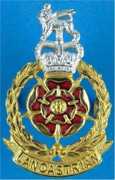 Lancastrian Brigade (worn By Lancastrian Volunteers) Officers' metal cap badge for sale British Army, Commonwealth, Helmets, Badges, Respect, Empire, Military, Cap, Metal