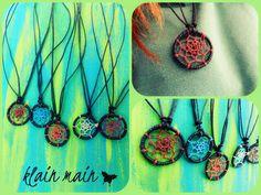 Dreamcatcher necklace - Handjorda dreamcatcher halsband ...