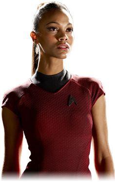 Lieutenant Uhura played by Zoe Saldana Star Trek Characters, Star Trek Movies, Female Characters, Gi Joe, Uhura Costume, Zoe Saldana Star Trek, Star Trek Reboot, Star Trek 2009, Star Trek Images