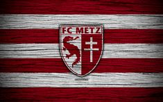 Download wallpapers Metz, 4k, France, Liga 1, wooden texture, Metz FC, Ligue 1, soccer, football club, FC Metz