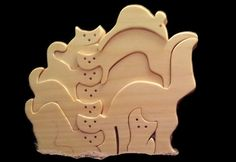 Cat family puzzle by Ntoys on Etsy, $22.99