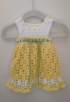 Crochet infant dress 0-3 months