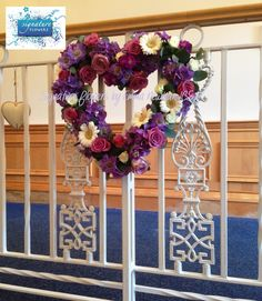 #purple # wedding #heart #love #venuedecor (c) Signature Flowers by Emma Newman
