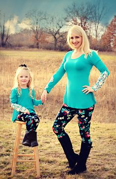 Floral Mommy   Me Leggings- Kids - Mommy   Me Leggings and matching tops!  Visit us at www.mayahkayfashion.com and on Facebook! ec25ad5f7c