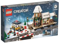LEGO 10259 Creator Winter Village Station New in Hand Distressed Box Lego Christmas Village, Lego Winter Village, Christmas Villages, Lego Creator Sets, The Creator, Van Lego, Lego Modular, Lego News, Lego Projects