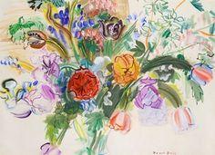 artnet Galleries: Bouquet de fleurs by Raoul Dufy from Galerie Fanny Guillon-Laffaille - Pictify - your social art network