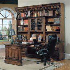 Barcelona 7 Piece Peninsula Group by Parker House - Beck's Furniture - L-Shape Desk Sacramento, Rancho Cordova, Roseville, California