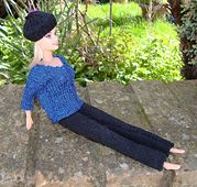 Ravelry: #0746 Abba Sweater & Trousers pattern by stickatillbarbie.se