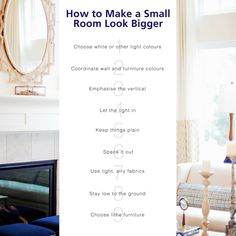 It's all about tricking the eye and creating the illusion of more space. Get creative and transform your tiny room into an open, airy haven with these 9 ideas! https://www.keatons.com/access-london/how-to-make-a-small-room-look-bigger/ #Interiors #InteriorDesign #HomeDecor