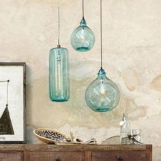 Beautiful aqua pendant lamp to make up your room 24