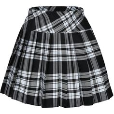 Big Girl`s Plaid Elasticated Pleated Skirt School Uniform Costumes (253.080 IDR) ❤ liked on Polyvore featuring skirts