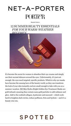 Gold Eye Mask, Eye Masks, Eye Treatment, Summer Beauty, Beauty Essentials, Warm Weather, Skincare, Bright, Happy