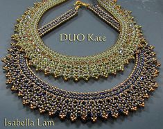 DÚO KATE SuperDuo pedrería collar Pdf tutoriales por bead4me