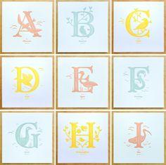 Image of Alphabirds Letter Prints