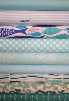 Fabricworm Custom Bundle, A Whale of a Time in FAT QUARTERS 9 Total