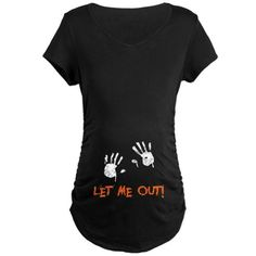 Shop Halloween Maternity T-Shirts from CafePress. Find the perfect shirt to adorn your baby bump. With thousands of designs to choose from, you are certain to find the unique item you've been seeking. Halloween Pregnancy Shirt, Pregnant Halloween Costumes, Maternity Halloween, Funny Pregnancy Shirts, Pregnancy Outfits, Baby Shirts, Maternity Wear, Maternity Fashion, Maternity Shirts