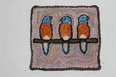 Hand hooked rug by Ellen Jaworski www.rughookingdaily.ning.com