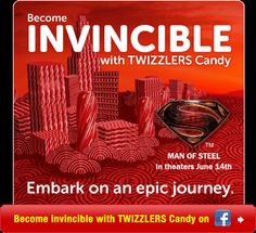 Twizzlers Man Of Steel Contest!