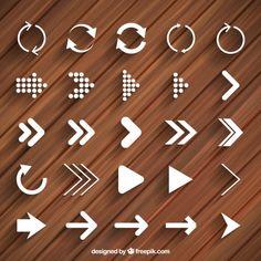 Setas e ícones de recarga Modern Vetor grátis