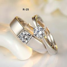Best Wedding Couple Rings Jewelry Ideas - My Style - Ringe Couple Rings Gold, Engagement Rings Couple, Rose Gold Engagement Ring, Solitaire Engagement, Tiffany Engagement, Engagement Gifts, Solitaire Ring, Engagement Photos, Silver Wedding Rings