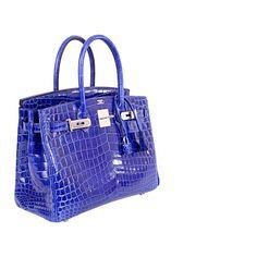 Hermes Birkin Bag 30cm Blue Electric Crocodile Nilo Palladium