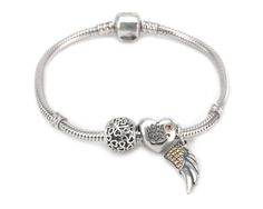 S925 Sterling Silver Yellow Zirconia Story Bracelet--charmselft.com