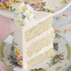 White Cake Recipe - Preppy Kitchen Cupcake Recipes, Cupcake Cakes, Dessert Recipes, Desserts, Cupcakes, Vanilla Birthday Cake Recipe, Vanilla Cake, Homemade White Cakes, White Birthday Cakes