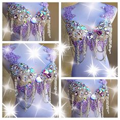 By: Electric Laundry Insta_Rave Bedazzled Bra, Bling Bra, Burlesque Costumes, Belly Dance Costumes, Rave Festival, Festival Fashion, Samba Costume, Diy Bra, Rave Gear