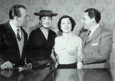 Nicola Zaccaria, Maria Callas, Giulietta Simionato y Mario Del Monaco  en los ensayos para Norma, Teatro alla Scala de Milán, 1955