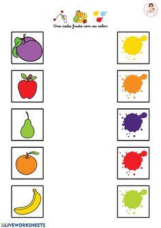Preschool Curriculum Free, Color Worksheets For Preschool, Abc Preschool, Toddler Learning Activities, Kindergarten Crafts, Color Activities, Kids Learning, English Games For Kids, English Worksheets For Kids
